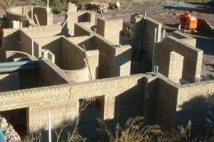 Foto: www.cannabric.com Vivienda unifamiliar de ladrillos de cannabis en construcción en Almería. SILVESTER WESSELS